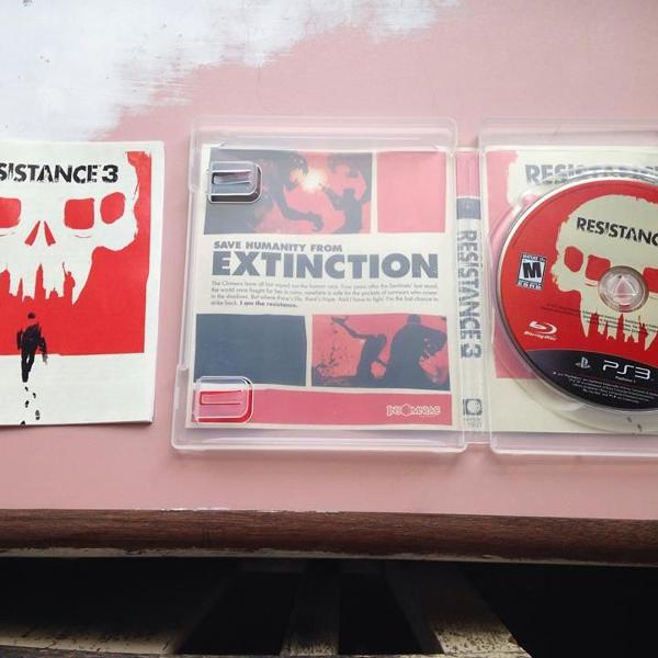 Resistance 3 playstation 3 ps3 sony completo r$79