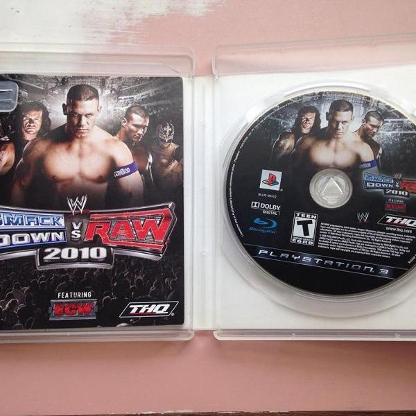 Smackdown vs raw 2010 playstation 3 ps3 completo r$69