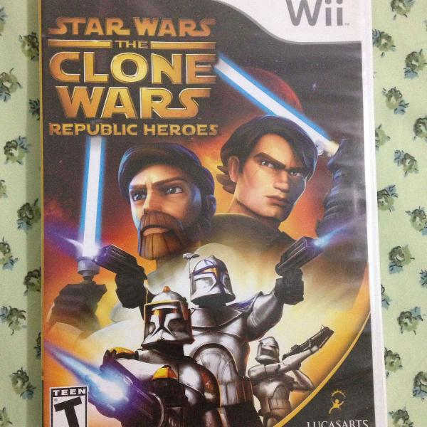 Star wars clone wars república heroes nintendo wii pouco