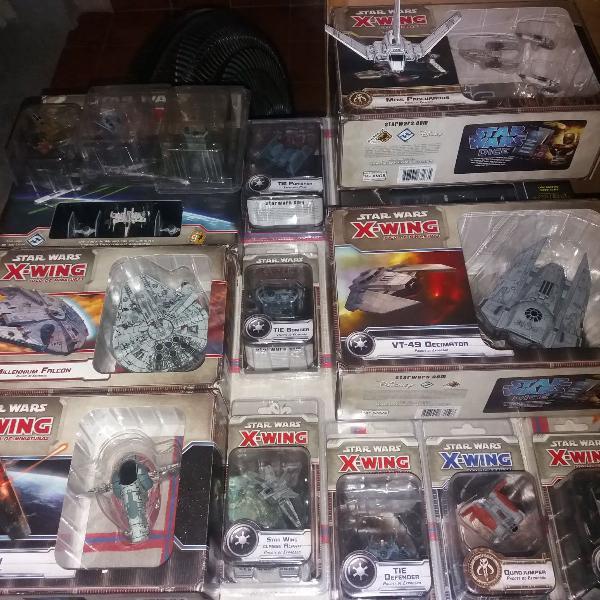 Star wars: x-wing - pack com 22 naves e seus respectivos