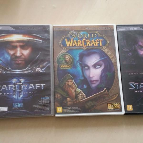 Starcraft e world of warcraft - 3 jogos para pc originais em