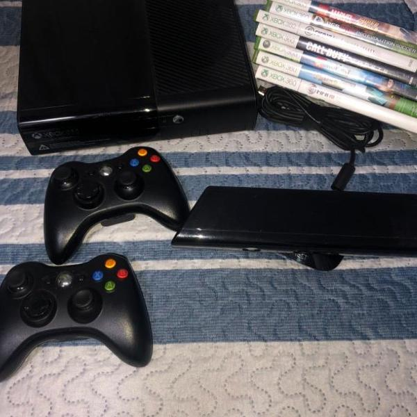 Xbox360 + kinect + 7 jogos originais