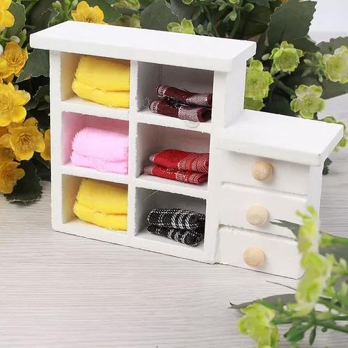 Mini brinquedos de madeira pequeno armário bonecas casa