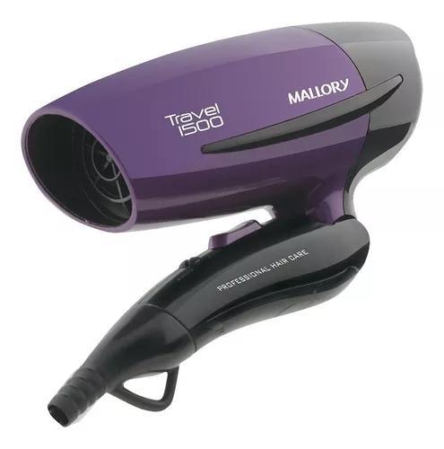 Mini secador de cabelo mallory dobrável portátil 1500