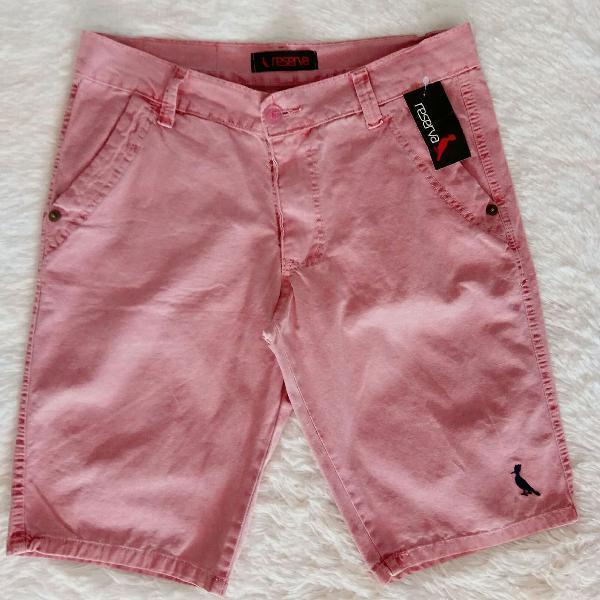 Bermuda sarja reserva rosa claro