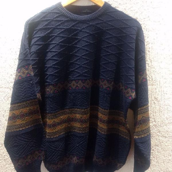 Blusão de lã retrô