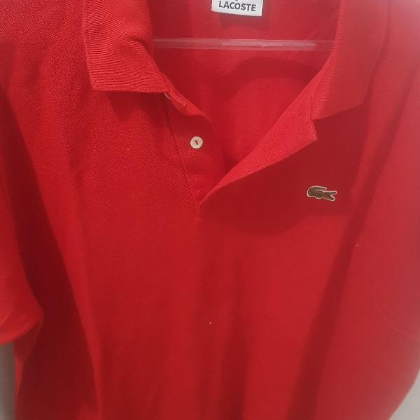 Camisa polo lacoste g vermelha original