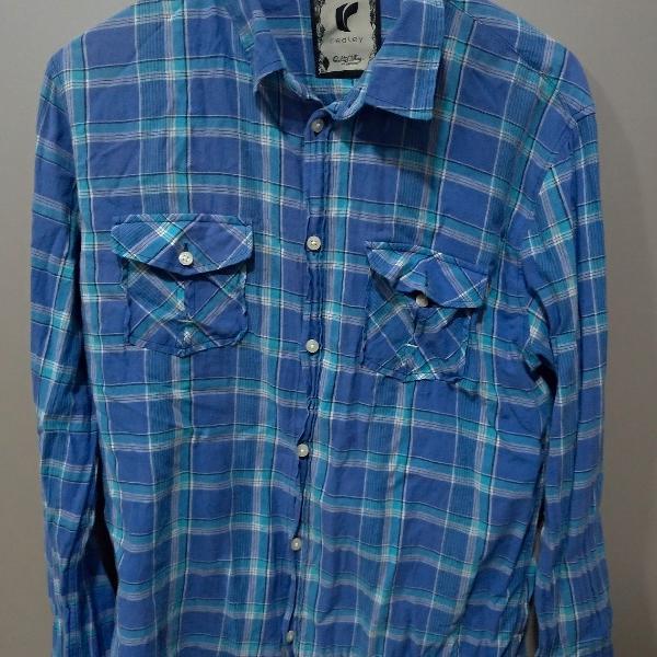 Camisa xadrez azul redley