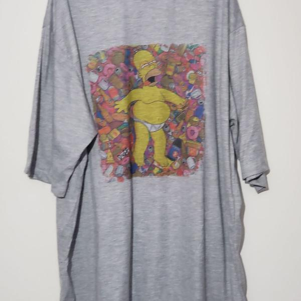 Camiseta cinza estampa homer simpsons tamanho g2