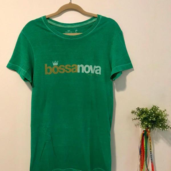 Camiseta manga curta verde osklen