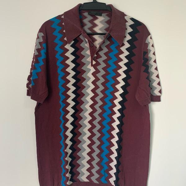 Camiseta prada estampada seda tamanho 54
