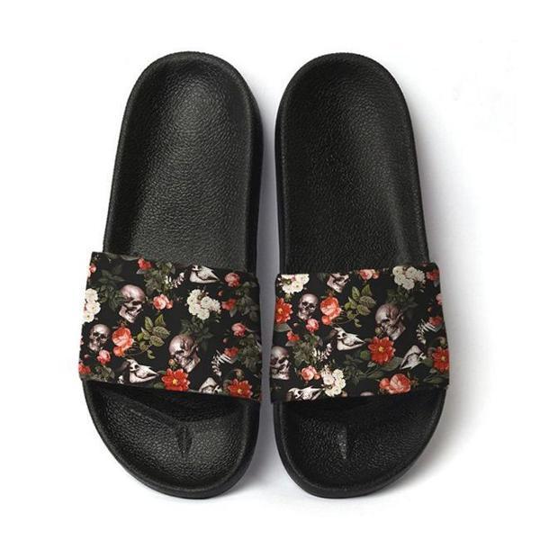 Chinelo slide sandalia masculina estampa caveira