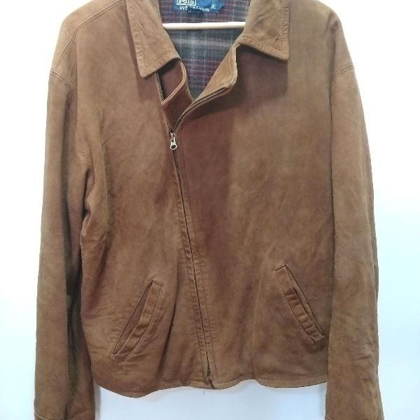 Jaqueta de couro polo ralph lauren