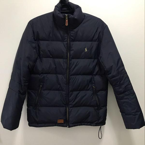 Jaqueta masculina azul marinho
