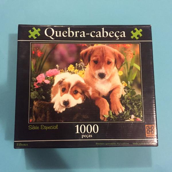 quebra-cabeça 1000 peças puzzles grow