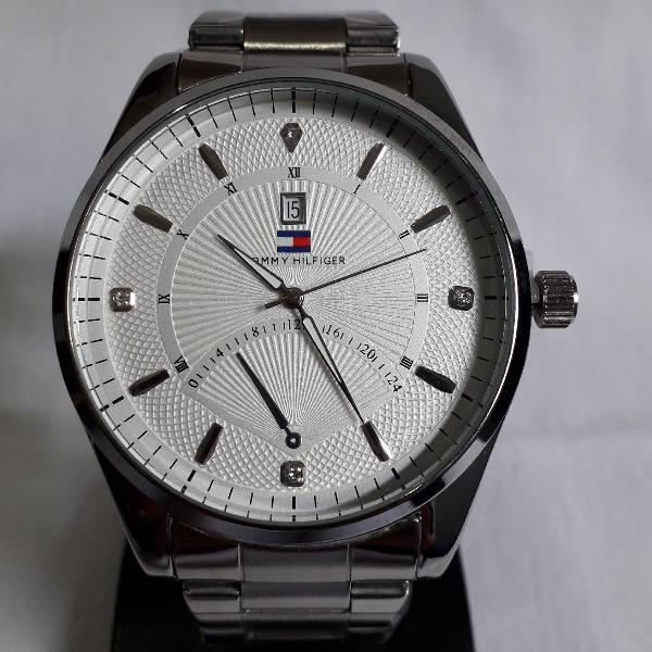 Relógio thomy hilfilger masculino aço 172083 mostrador