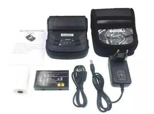 10un mini impressora portatil blue termica 80mm android nf!!