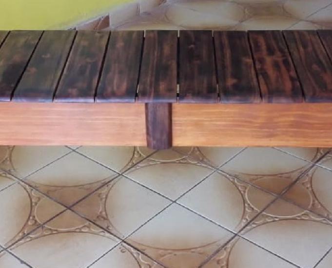 Banco 3 lugares (100%madeira) fabricação artesanal.