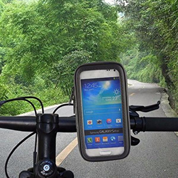 Bolsa impermeável porta celular suporte bicicleta moto gps