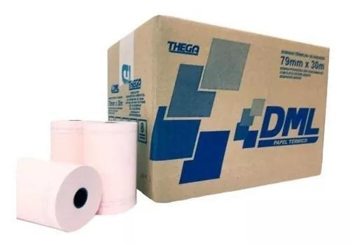 Caixa de bobina impressora térmica 80x40 salmao 30 und