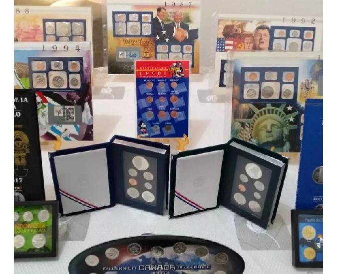 Coleções diversas, cédulas, moedas, selos, álbuns e