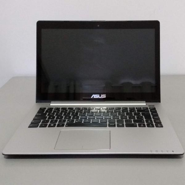 "Computador notebook pc touchscreen asus s400c 14"" ssd wind"
