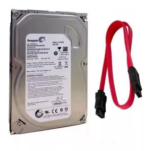 Hd 500gb Sata Seagate Com Garantia P/ Pc Desktop E Dvr +cabo