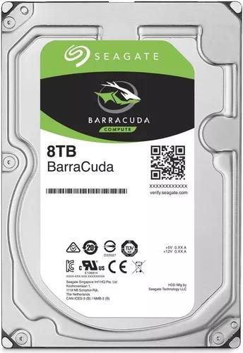 Hd seagate 8tb 8000gb sata3 6gb/s 256mb 5900 rpm - desktop