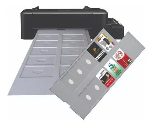 Impressora de cartão pvc crachá inkjet epson bandeja com