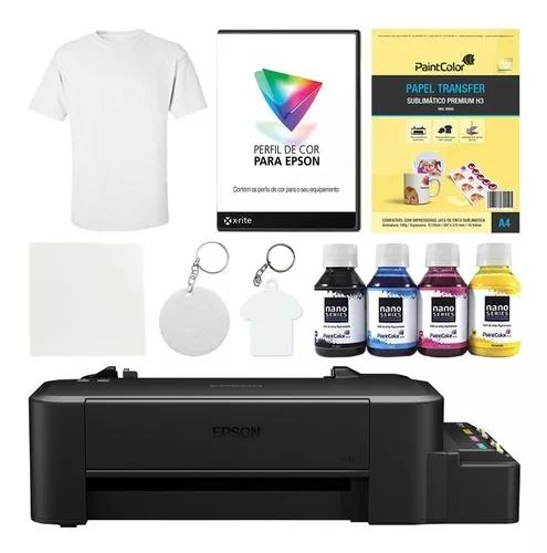 Impressora l120 sublimática + kit completo de produtos