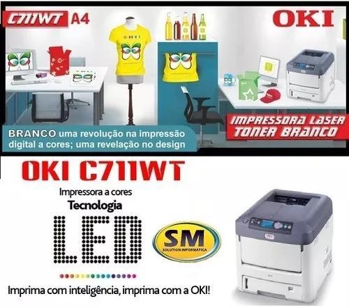 Impressora oki c711wt toner branco nova parcelada s