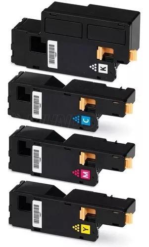 Kit colorido de toner compativel para xerox phaser 6010 6000