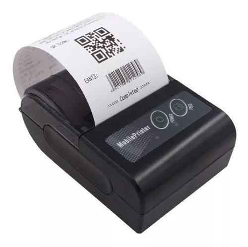 Mini impressora bluetooth termica portatil 58mm android