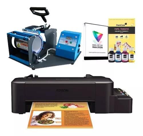 Máquina de estampar canecas 220v + impressora sublimática