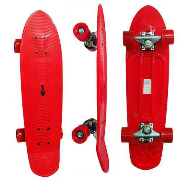 Skate longboard mini retro rodas abec 7 truck de ferro