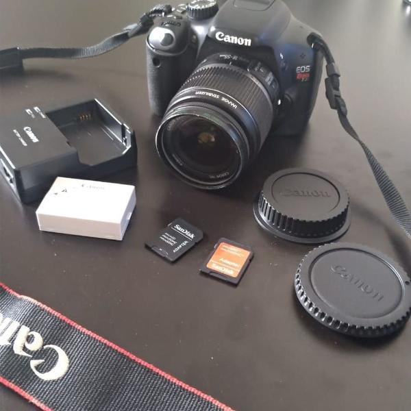 Camera semi profissional canon eos rebel t2i