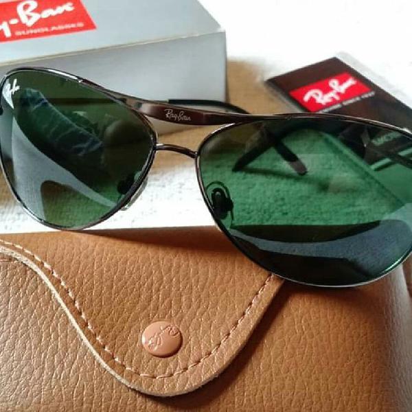 Culos de sol rayban esportivo 8015 lentes de cristal verde