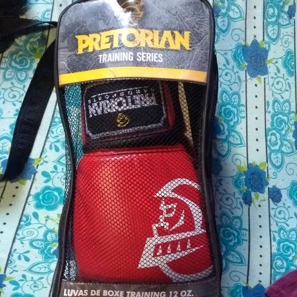 Luva de boxe/muay thai pretorian elite vermelha