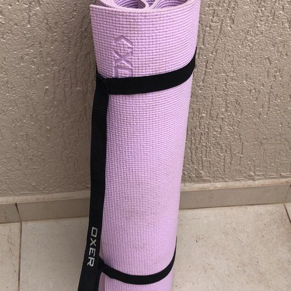 Mat yoga lilás