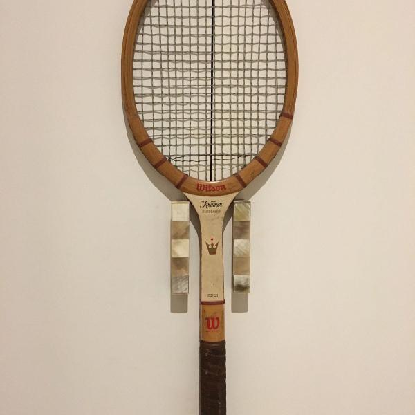 Raquete de tenis de madeira wilson
