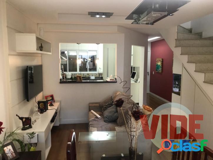 Sobrado, com 3 dormitórios (1 suíte), 119 m², em condomínio fechado, no jd. santa maria, no centro de jacareí