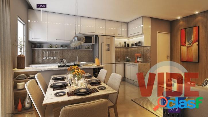 Vila industrial: apartamento com 2 dormitórios (1 suíte), 1 vaga, 55 m²