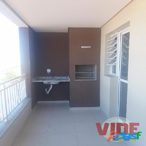 Apto. novo, c/ 2 dorms (1 suíte), varanda gourmet, 69 m², Parque Industrial 1