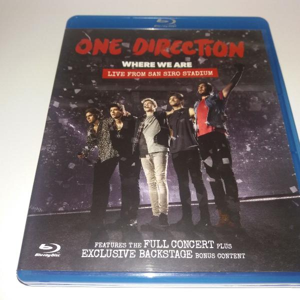Blu-ray one direction - where we are - live from san siro