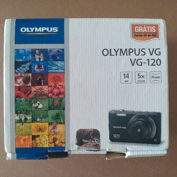 Câmera digital olympus vg-120 na caixa