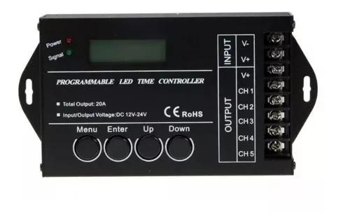 Controladora tc420 5 canais 12v a 24v 20a