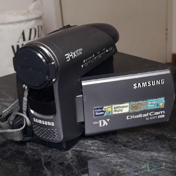 Filmadora digital cam samsung sc-d371