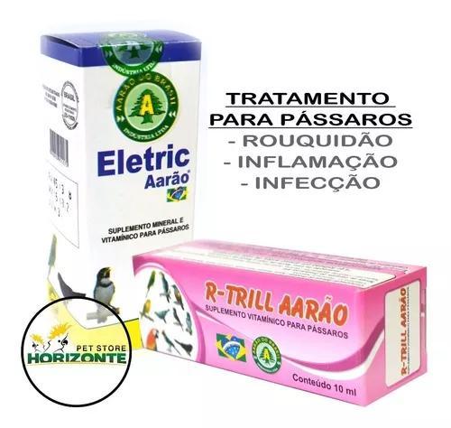 Kit r-trill 10ml + elétric 10ml - aarão - rouquidão