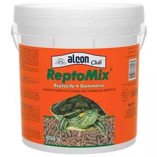 Ração alcon para tartarugas reptomix 800g + brinde