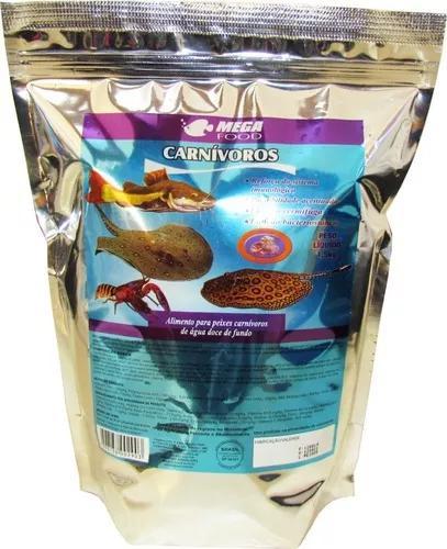 Ração peixes carnivoros de fundo * 1,5 kg * mega food